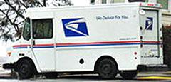 Postal Service truck.