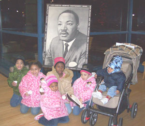 Children at MLK celebration.