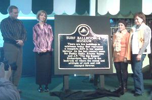 Surf Ballroom historical marker.