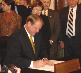 Governor Culver signs disaster bill.