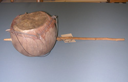 Gourd drum after cleaning.