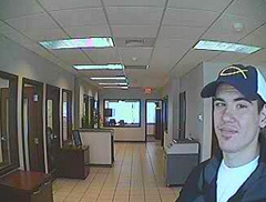 Surveillance photo from Greater Iowa CU robbery.