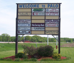Palo welcome sign.