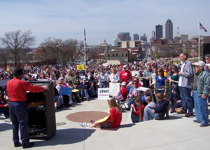 TEA Party view from State Capitol.