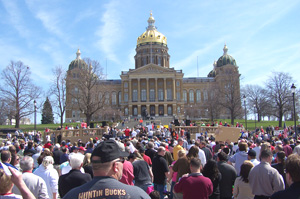 Crowd at State Capitol TEA Party.