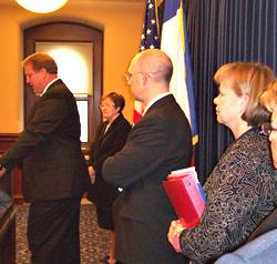 Governor Culver talks about swine flu.