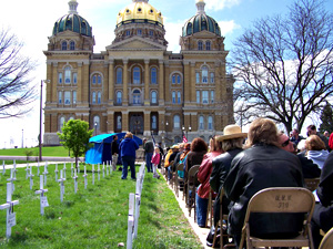Ceremony outside capitol honors workers who died on the job.