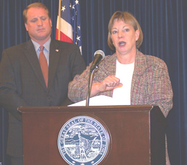 Governor Chet Culver and Dr. Patricia Quinlisk