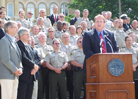 Governor Culver speaks at sex offender bill signing.
