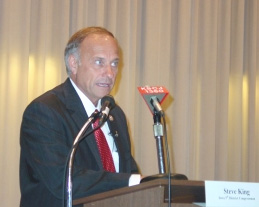 Congressman Steve King. (photo courtesy KSCJ radio)