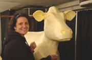 Butter cow sculptor Sarah Pratt.