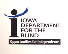 New logo of the Iowa Department for the Blind.