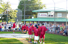 Urbandale Little Leaguers meet a crowd at their field Sunday.