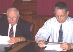 Senator Jack Kibbie, Senator Jerry Behn (l-r).