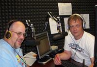 Scott Pierce and Dar Danielson in the Football Friday Night studio.