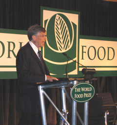 Bill Gates at World Food Prize Symposium