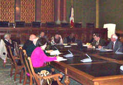 Legislative Oversight Committee hears phoned-in testimony of Deputy Attorney General.