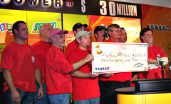 Ten Powerball winners.