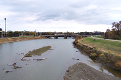 Racoon River in Des Moines.