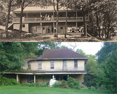 Cedar Springs Hotel, then and now.