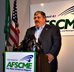 AFSCME president Danny Homan  (file photo)