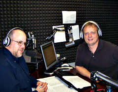 Scott Pierce and Dar Danielson in the INS Football Friday studio.