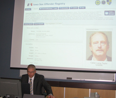 "D.C.I.'s Terry Cowman provides a ""tour"" of new sex offender website."