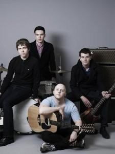 James McCartney (center, seated) with his band Light