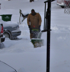 Some Iowans are braving the winds trying to dig out.