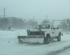 Trucks like this have been busy with the recent snowfall.