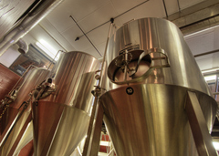 Tanks at the Olde Main Brewery
