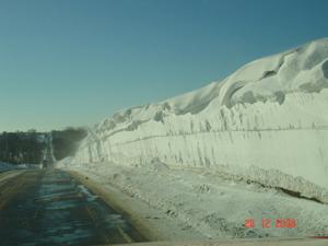 Snowdrift on U.S. 275