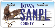 REAP eagle license plate