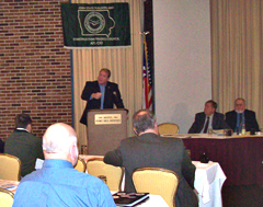 Governor speaks at the Iowa State Building and Construction Trades Council convention.