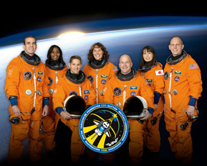 Clay Anderson (far right) and the rest of the STS131 crew.