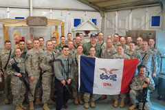 Governor Culver visiting the Iowa National Guard 294th Area Support Medical Company in Iraq.