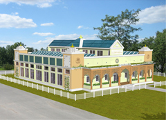 "Proposed ""green"" building at Maharishi University."