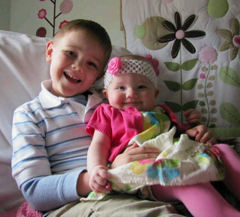 Carson and Claire DeJoode from Easter of this year.