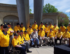 World War Two veterans gather for the announcement of another Honor Flight.