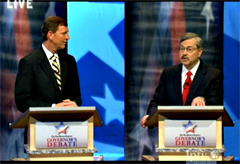 Bob Vander Plaats and Terry Branstad (L-R) during debate.