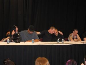 Joey Jordison (drummer), Tony Gray, Corey Taylor, Shawn Crahan, Sid Wilson (DJ)