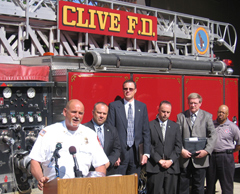 Clive Fire Marshal Tony Collins speaks about new smoke detectors.