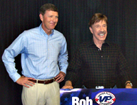 Bob Vander Plaats and Chuck Norris
