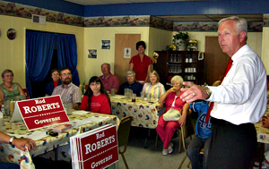 Rod Roberts campaigning.