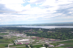 Aerial view of Saylorville Resevoir