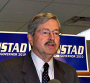 Terry Branstad won the Republican primary for governor.