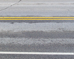 The D.O.T. says paint used to put lines on roadways is in short supply.