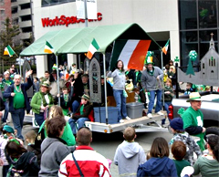 St. Patrick's Day Parade in Des Moines.