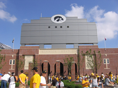 Outside Kinnick Stadium prior to an Iowa football game