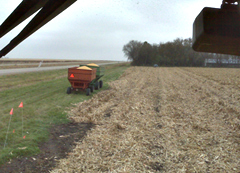 View from a combine.